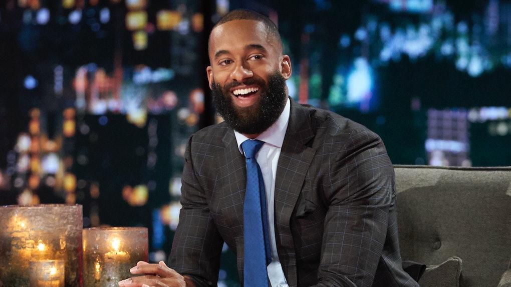 "Matt James with a beard on the ""Women Tell All"" episode of 'The Bachelor' Season 25"