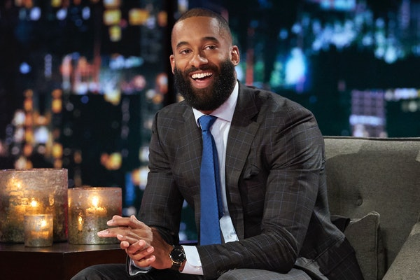 "Matt James with a beard on the ""Women Tell All"" episode of 'The Bachelor' Season 25"