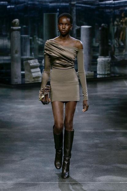 model on the runway
