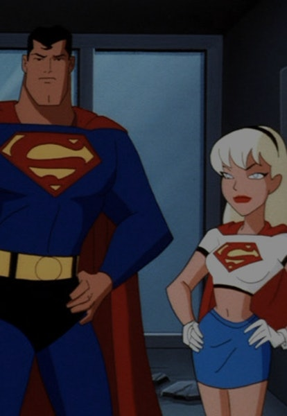 superman and supergirl from the animated series