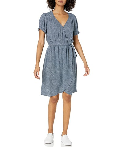 Goodthreads Relaxed Fit Fluid Twill Faux Wrap Dress