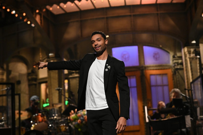 Regé-Jean Page hosts 'Saturday Night Live' on February 21, 2021. Photo via NBC