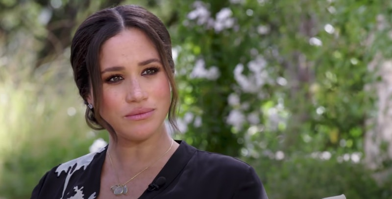 Meghan Markle during her 2021 interview with Oprah Winfrey. Photo via CBS/YouTube