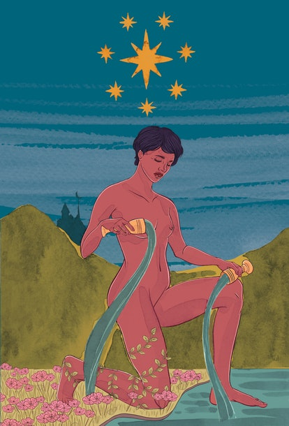 The Star tarot card corresponds with fixed air zodiac sign Aquarius.
