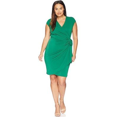 Lark & Ro Classic Cap Sleeve Wrap Dress