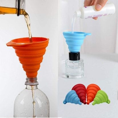 KongNai Silicone Collapsible Funnels (4-Paack)