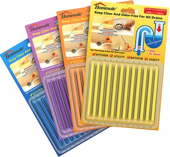 Hommate Drain Cleaner & Deodorizer Sticks (48 Count)
