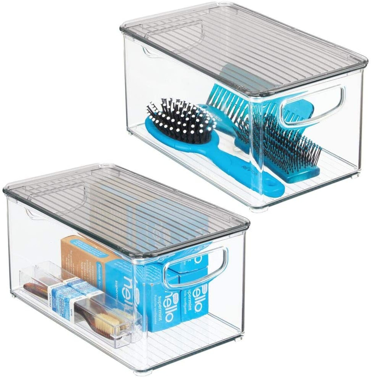 mDesign Stackable Storage Boxes (2-Pack)