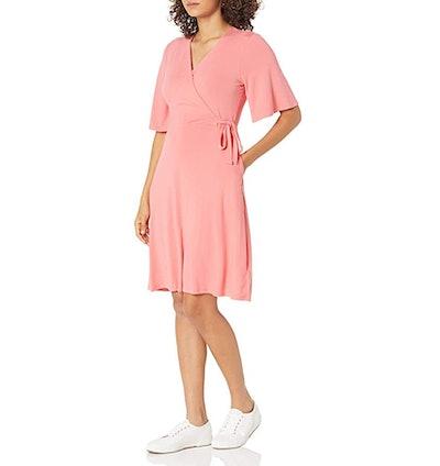 Amazon Essentials Kimono Sleeve Faux Wrap Dress