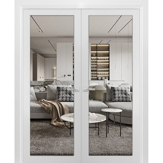 Glass Wood Lucia French Doors