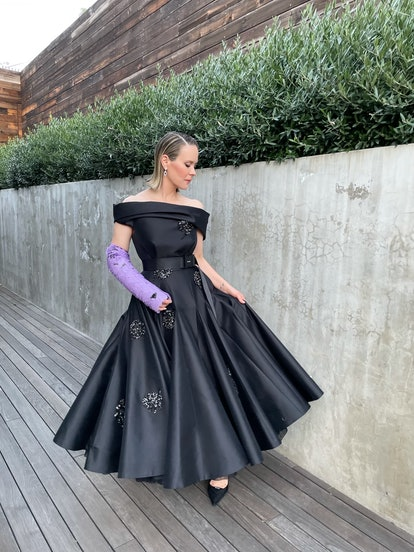 Sarah Paulsin on Prada at the 2021 Golden Globes.