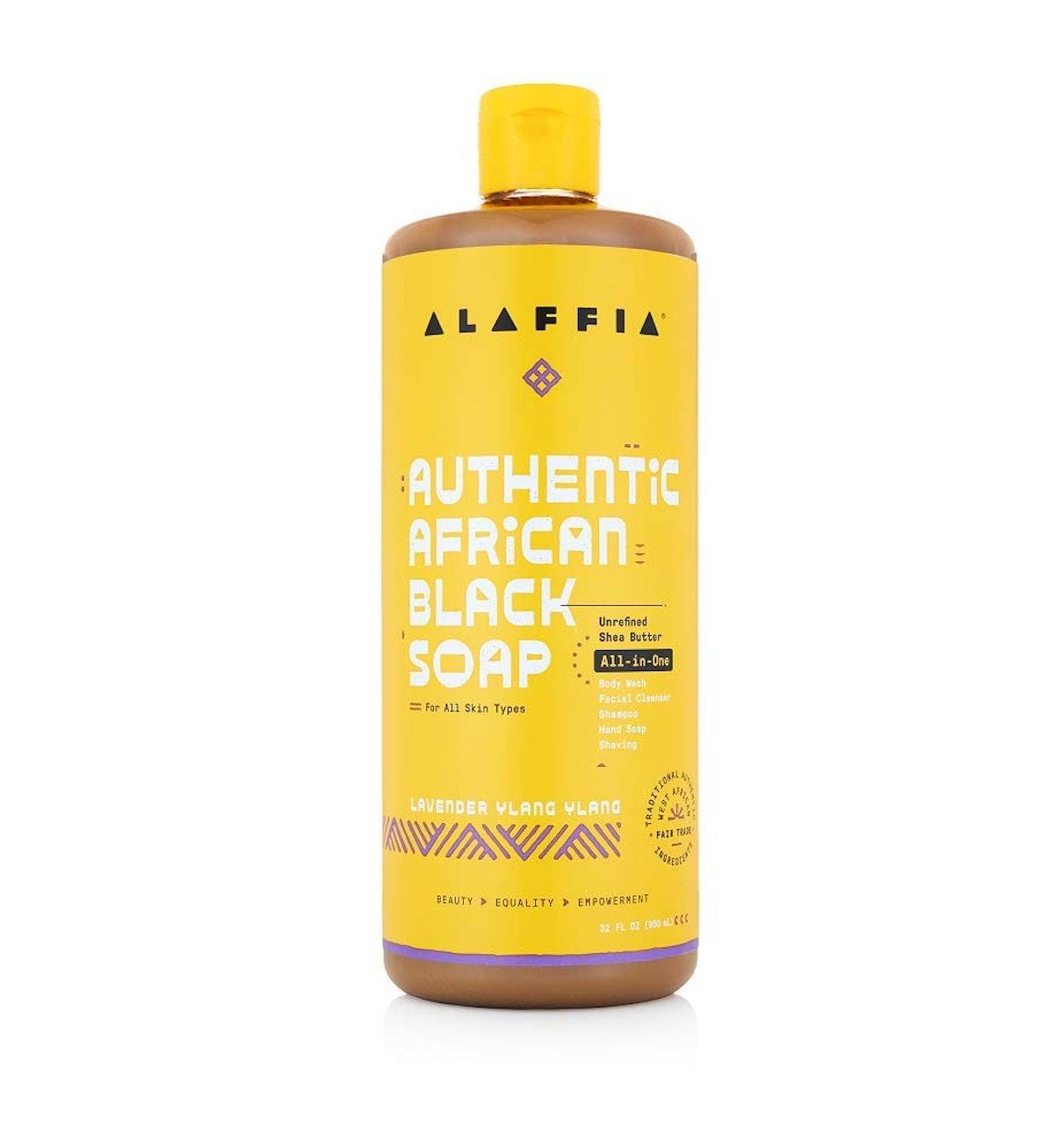 Alaffia Authentic African Black Soap in Lavender Ylang Ylang