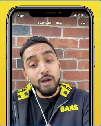 BARS app promo video screenshot