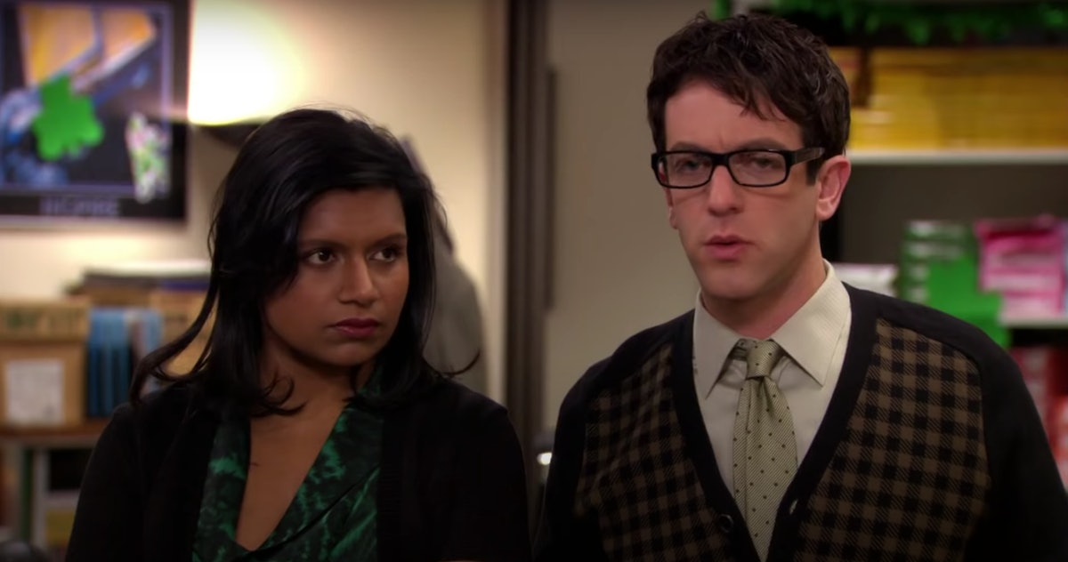 Kelly and Ryan talk to Meredith in 'The Office' on St. Patrick's Day.
