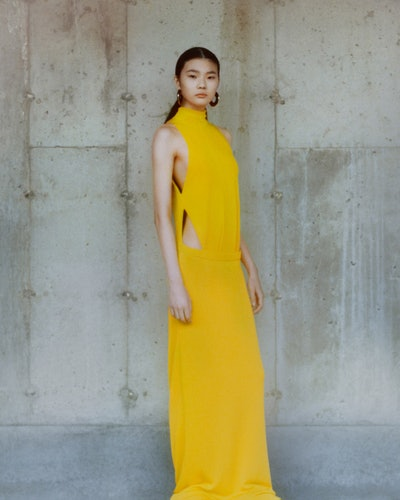 Model from Proenza Schouler's Fall 2021 Ready-To-Wear show.