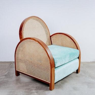 Arc Cane Lounge Chair