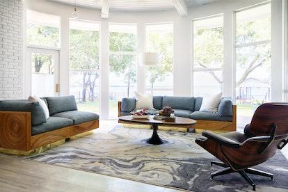 living room '70s decor style