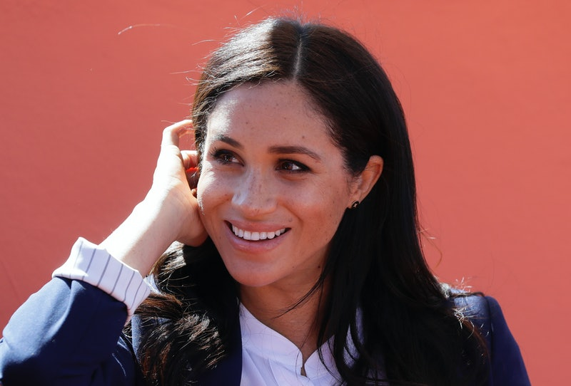 Meghan, Duchess of Sussex attends an Investiture for Michael McHugo the founder of 'Education for All' with the Most Excellent Order of the British Empire on February 24, 2019 in Asni, Morocco. The Duke and Duchess of Sussex are on a three day visit to the country.