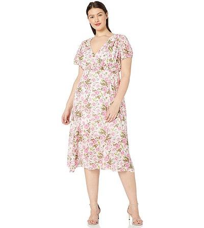 Betsey Johnson Plus Size Floral Midi Dress