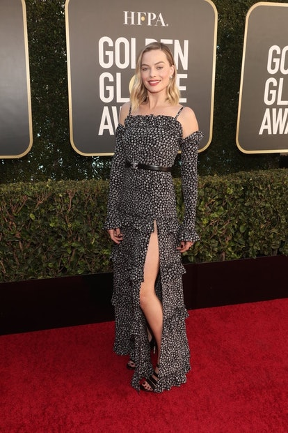 Margot Robbie in Chanel at the 2021 Golden Globes.
