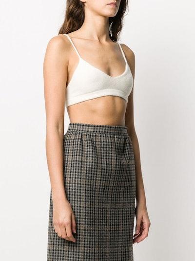 Laneus Cashmere Knit Bralette Top
