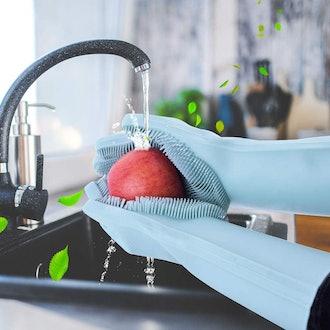 EVILTO Dishwashing Scrub Gloves