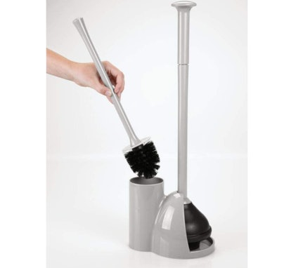 mDesign Compact Toilet Brush and Plunger