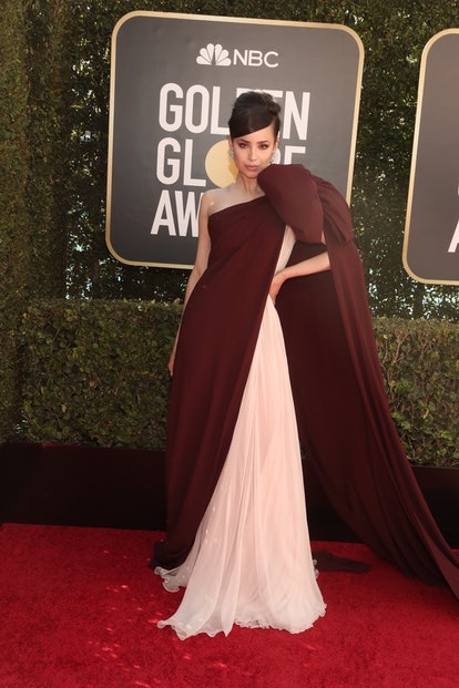 Sofia Carson in Giambattista Valli at the 2021 Golden Globes.