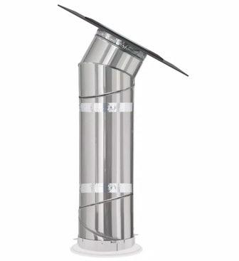 Flat Glass SUN TUNNEL Tubular Skylight with Rigid Tunnel and Low Profile Flashing
