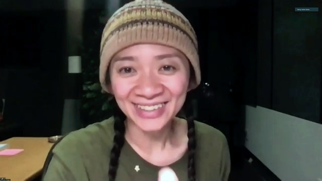 Chloe Zhao is the first woman of color to win a Best Director Golden Globe, for her film 'Nomadland.'