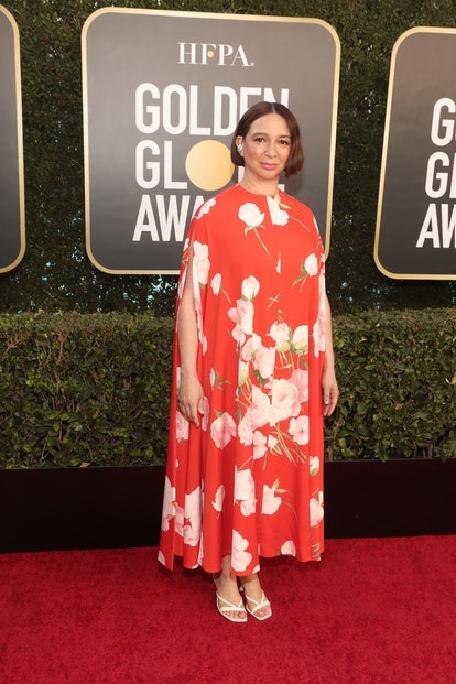 Maya Rudolph in Valentino at the 2021 Golden Globes.
