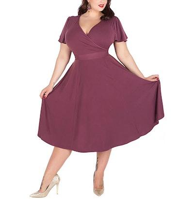 Nemidor Stretchy Plus Size Midi Dress