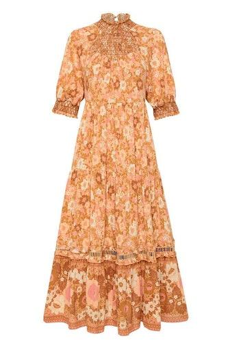 Anne Midi Gown in Peach