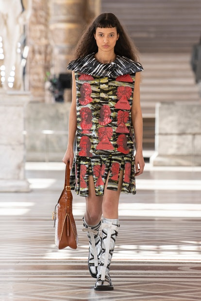 A model walks the runway for the Louis Vuitton Fall Winter 2021 Collection