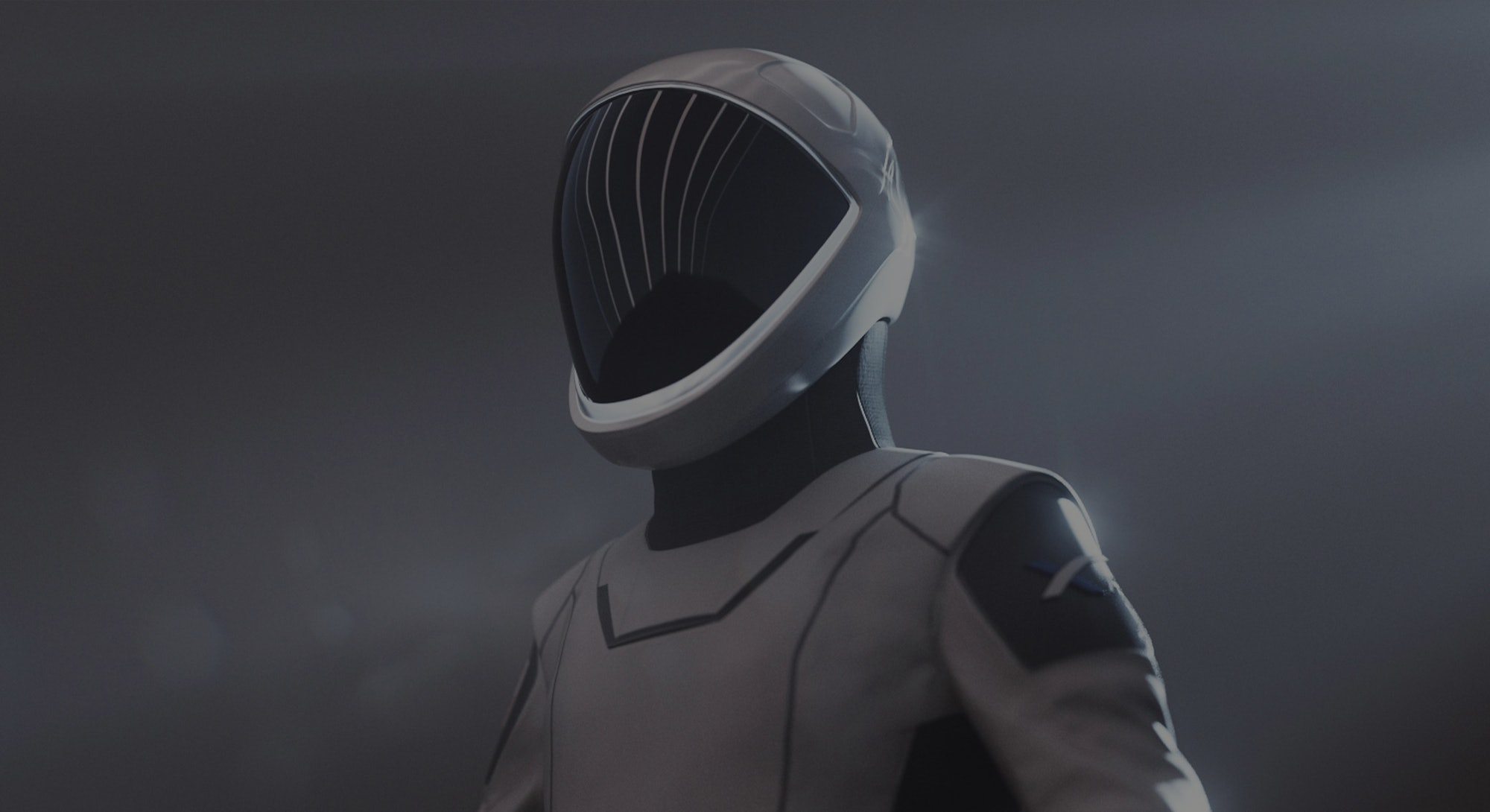SpaceX spacesuit that the winners of the dearMoon contest will wear.