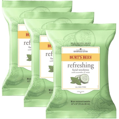 Burt's Bees Refreshing Facial Towelettes (3-pack of 10 wipes)