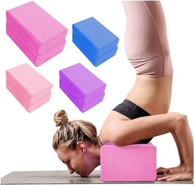 YHmall Yoga Blocks (2-Pack)