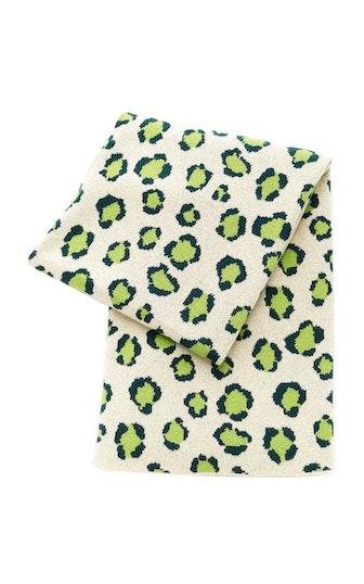 Leopard-Print Cashmere Throw