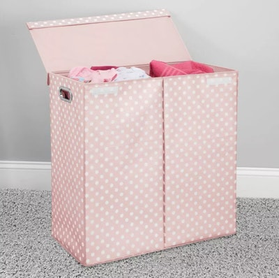 Divided Laundry Hamper Basket with Lid