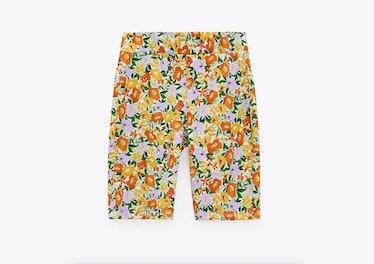 Floral Print Bike Shorts