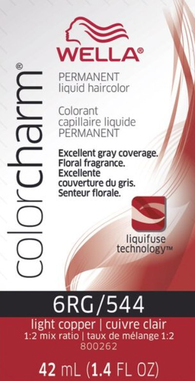 Light Copper Color Charm Liquid Permanent Hair Color