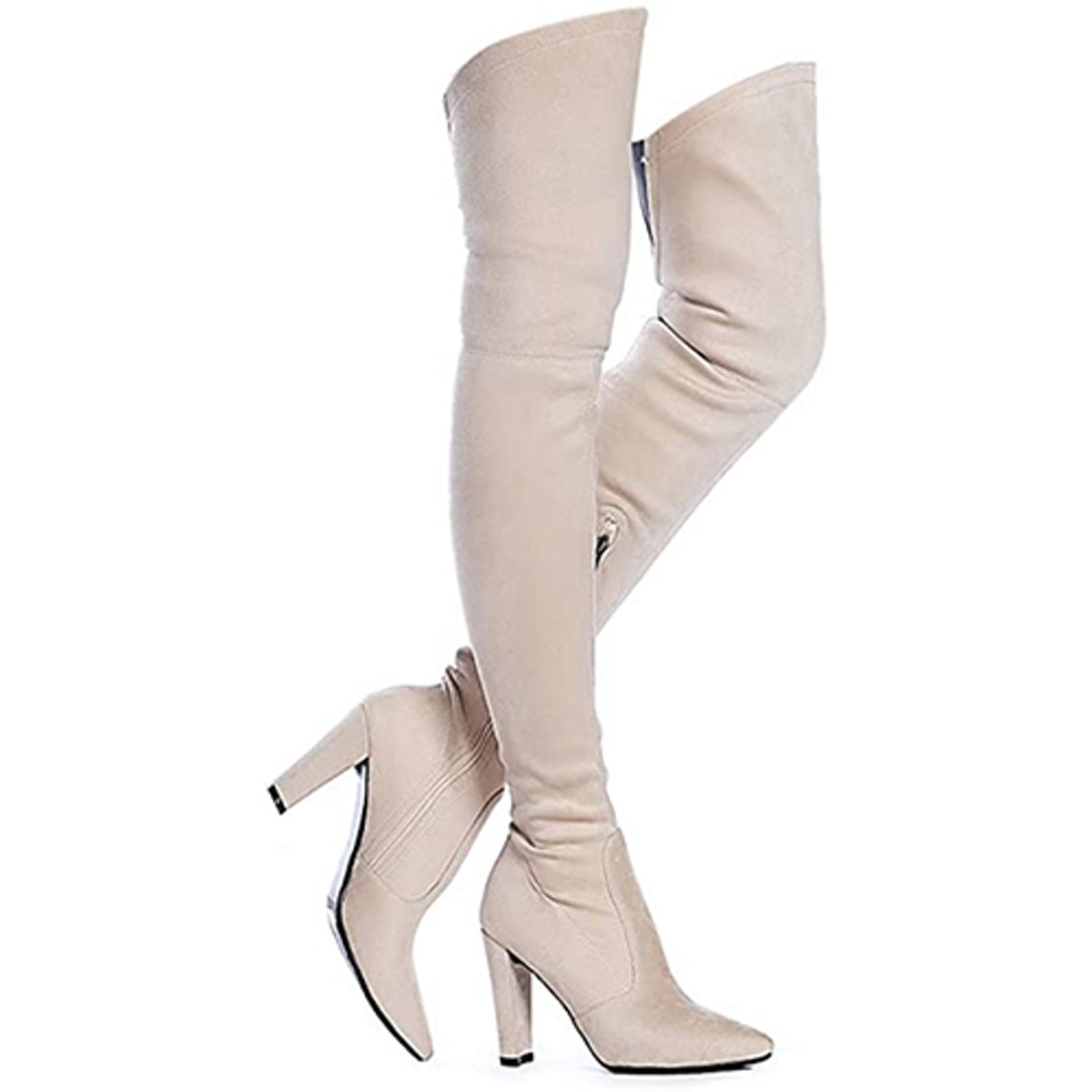 Shoe 'N' Tale Heeled Thigh-High Boots