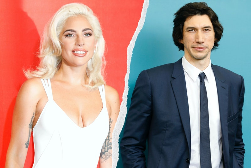 Lady Gaga and Adam Driver both at the 2019 Venice Film Festival. Photos via Getty