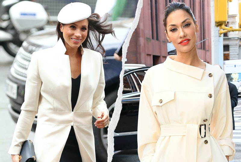Meghan Markle in 2018 and Janina Gavankar in 2020 at separate events. Photos via Getty
