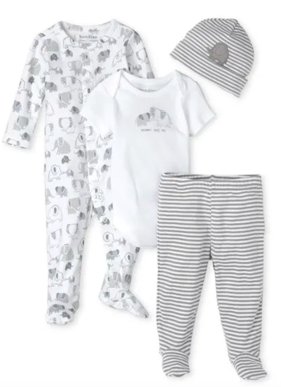 Unisex Baby Elephant 4-Piece Take Me Home Set