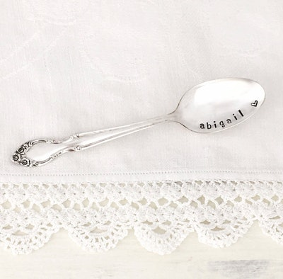 Antique Silver Baby Spoon