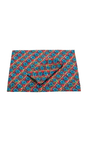 Set-Of-Two Printed Linen Placemats