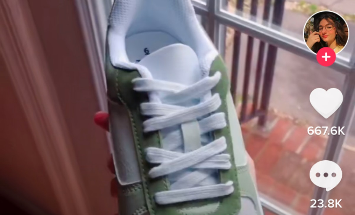 The painted Walmart shoes TikTok trend is inspired by Nike's Air Force 1 sneakers.