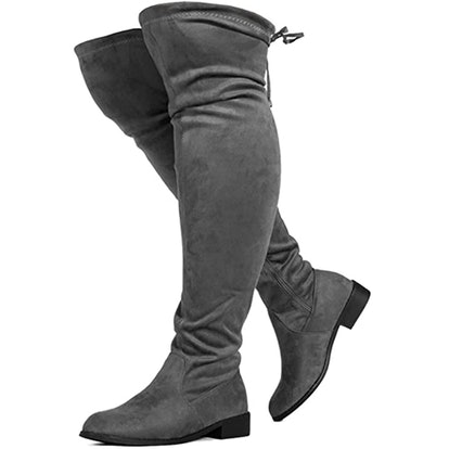 RF ROOM OF FASHION Wide Calf Stretchy Over-The-Knee Boots