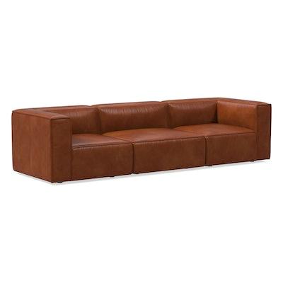 Remi Leather 3-Piece Sofa